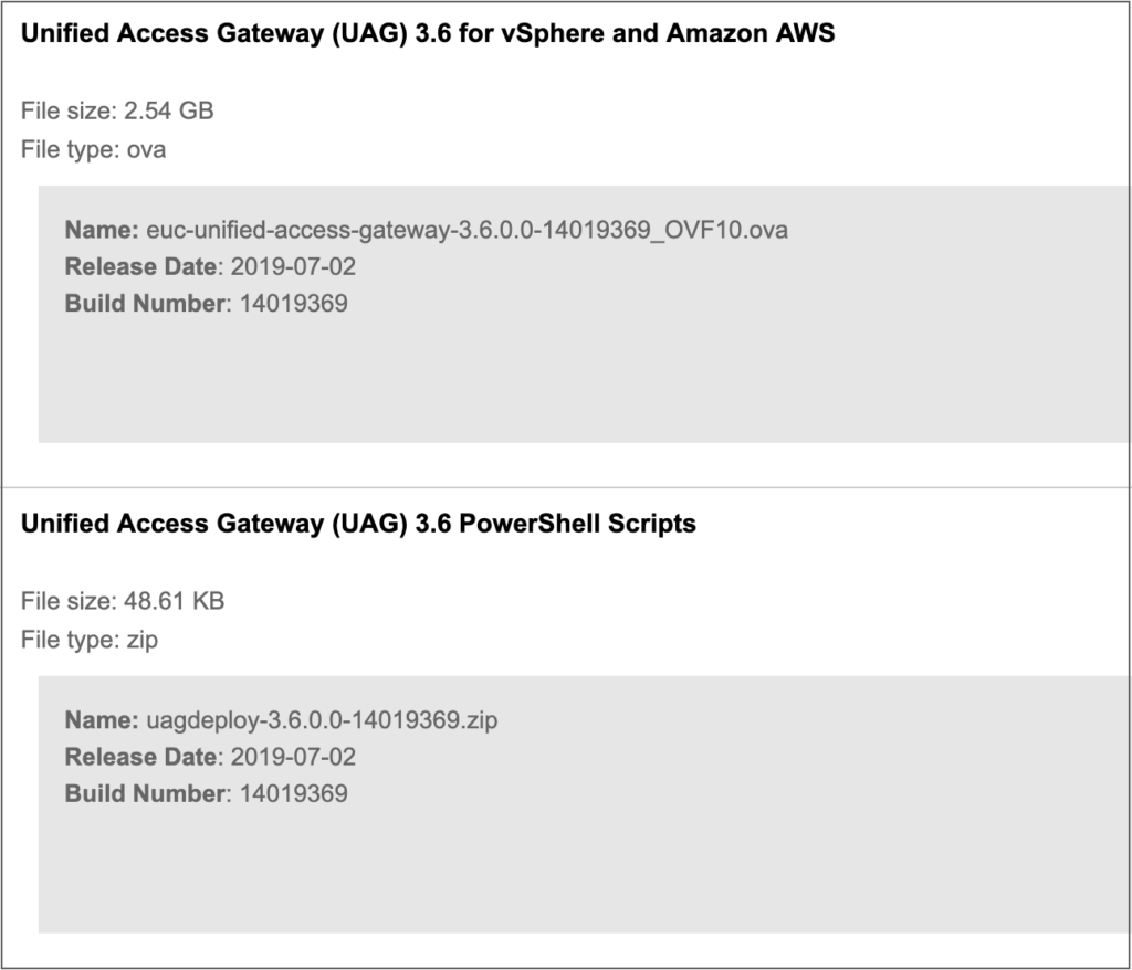 VMware Unified Access Gateway 3 6 Install and Upgrade – End